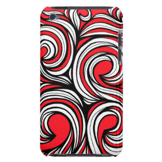 Bucciero Abstract Expression Red White Black Barely There iPod Cover