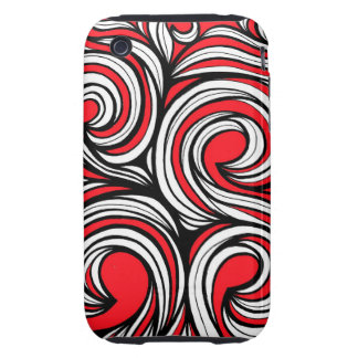 Bucciero Abstract Expression Red White Black iPhone 3 Tough Cover