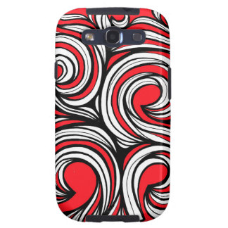 Bucciero Abstract Expression Red White Black Galaxy SIII Case
