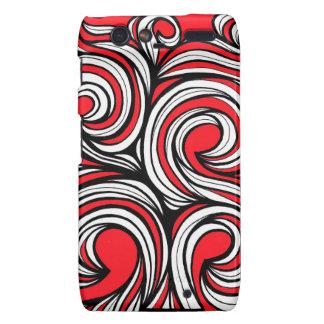 Bucciero Abstract Expression Red White Black Droid RAZR Cover