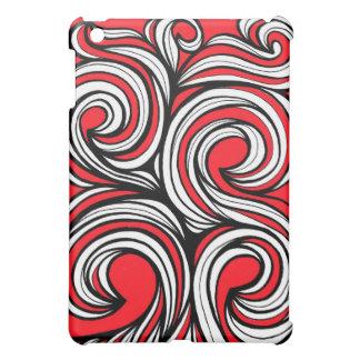 Bucciero Abstract Expression Red White Black iPad Mini Cases