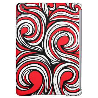 Bucciero Abstract Expression Red White Black iPad Air Covers