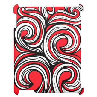 Bucciero Abstract Expression Red White Black Cover For The iPad 2 3 4
