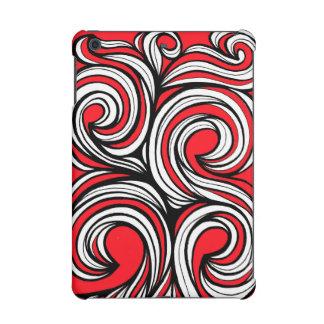 Bucciero Abstract Expression Red White Black iPad Mini Cover