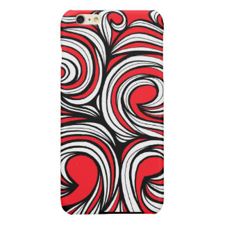 Bucciero Abstract Expression Red White Black Glossy iPhone 6 Plus Case