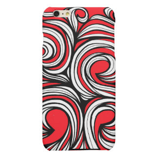 Bucciero Abstract Expression Red White Black Matte iPhone 6 Plus Case