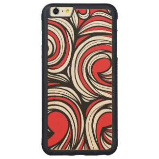 Bucciero Abstract Expression Red White Black Carved® Maple iPhone 6 Plus Bumper Case