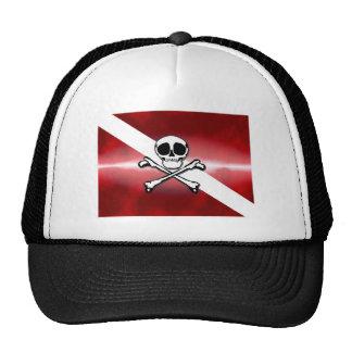 Buceador alegre gorras de camionero