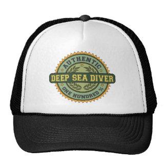 Buceador auténtico del mar profundo gorras de camionero