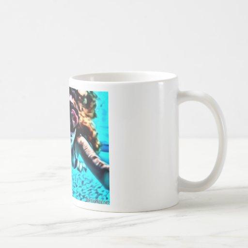 Buceador azul taza