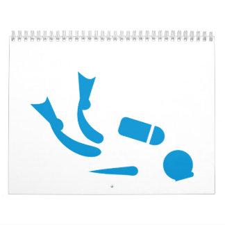 Buceador Calendario De Pared