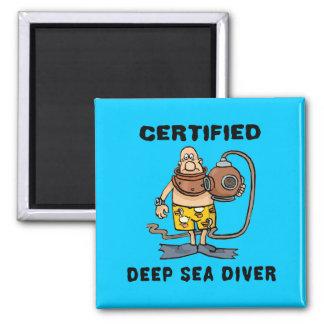 Buceador certificado del mar profundo imanes para frigoríficos