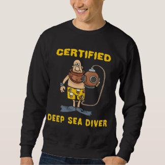 Buceador certificado del mar profundo sudadera con capucha