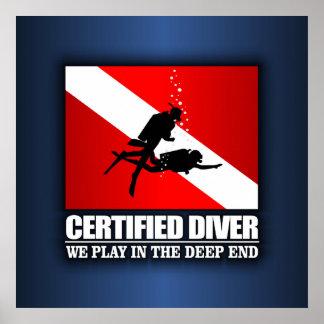 Buceador certificado (extremo profundo) póster