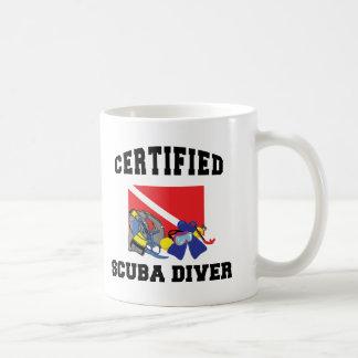 Buceador certificado taza clásica