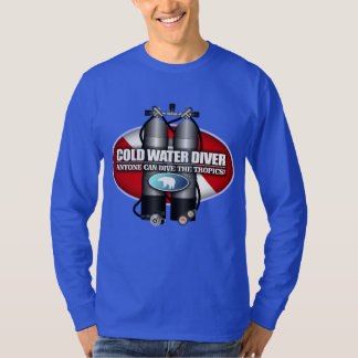 Buceador de la agua fría (ST) Remera