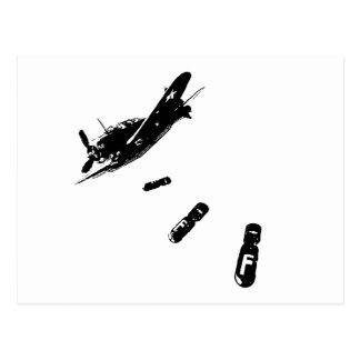 Buceador de la F-Bomba (negro) Postales