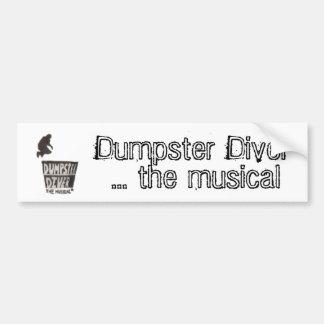 Buceador del contenedor… el bumpersticker musical pegatina para auto