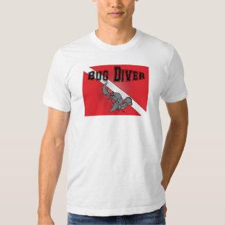 Buceador del insecto - camiseta del salto de la remera
