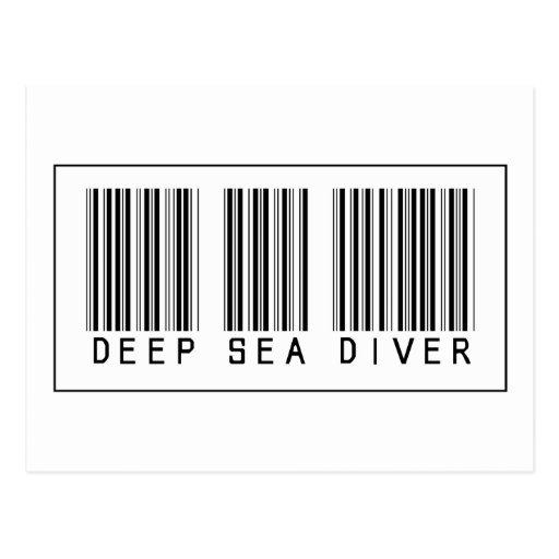 Buceador del mar profundo del código de barras postales