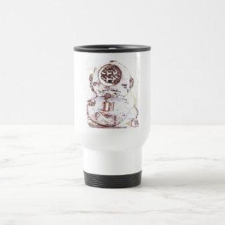 Buceador del mar profundo tazas de café
