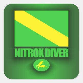 Buceador del Nitrox Pegatina Cuadrada