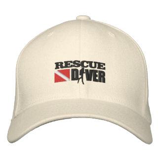 Buceador del rescate (casquillo bordado) gorra de beisbol bordada