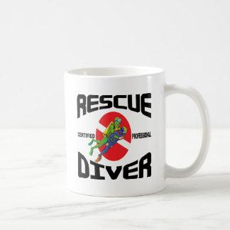 Buceador del rescate tazas de café