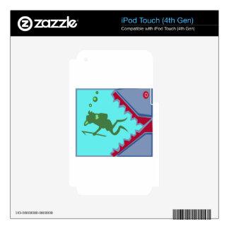 Buceador en peligro del regalo del gráfico del iPod touch 4G calcomanías