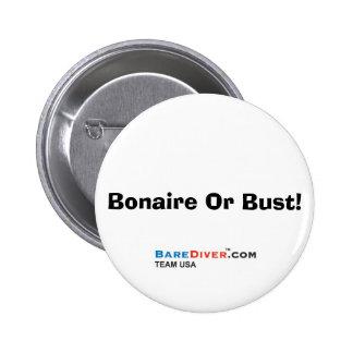 ¡Buceador loco del equipo de submarinismo - Bonair Pin