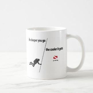 Buceador más profundo taza de café