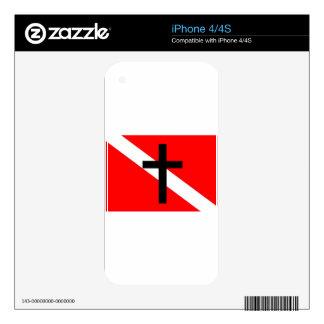Buceador santo de la bandera de la zambullida skins para eliPhone 4