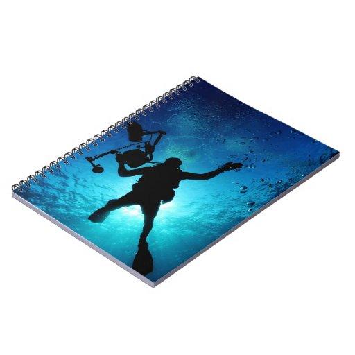Buceador subacuático libreta