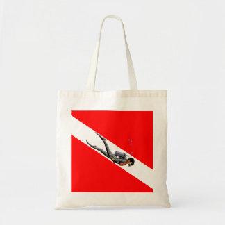Buceador y bandera de la zambullida bolsa tela barata