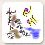 buceadores abstractos posavasos de bebida