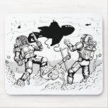 Buceadores de Steampunk Tapetes De Ratón