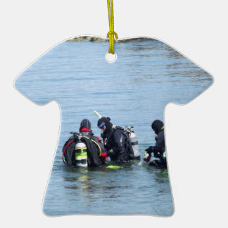 Buceadores del océano ornaments para arbol de navidad