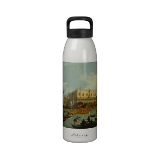 Bucentaur's Return to Palazzo Ducale, Canaletto Water Bottles