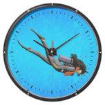 Buceo con escafandra de la mujer reloj aquavista