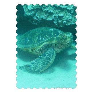 Buceo con escafandra de la tortuga de mar