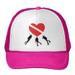 Buceo con escafandra del amor gorra