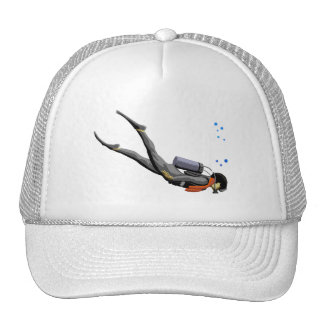 Buceo con escafandra del hombre gorras