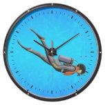 Buceo con escafandra del hombre reloj aquavista