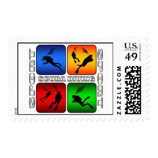 Buceo con escafandra espectacular sellos postales