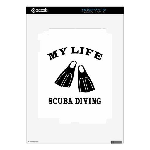 Buceo con escafandra mi vida calcomanías para iPad 2