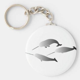 buceo con escafandra narwal del unicornio del narw llaveros personalizados