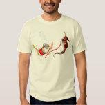 Buceo con escafandra Santa y camiseta del Seahorse Playera