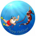 Buceo con escafandra Santa y ornamento del Seahors Adorno Fotoescultura