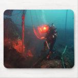 Buceo con escafandra subacuático tapete de ratón