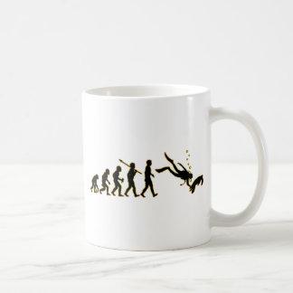 Buceo con escafandra taza clásica